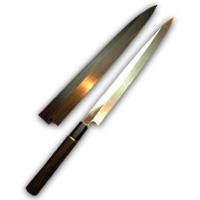 hide-y-1200 / 柳刃包丁 水本焼 尺0・尺1 黒檀 鞘付