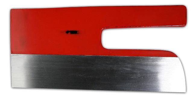 麺切包丁 白鋼 8寸 赤漆