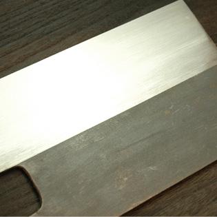 麺切包丁 白鋼 尺1 黒打ち