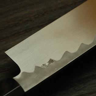 鎌薄刃包丁 青鋼 6寸 鞘付